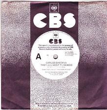 Carlos Santana They All Went To Mexico Australian CBS Promo 45 record