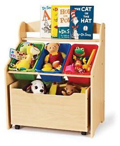 Image Is Loading Kid 039 S Room Book Shelf Toys Bin