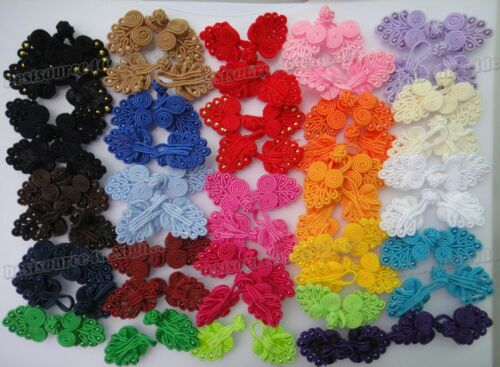 23color pick fabric Chinese frog closure fasteners knot Cheongsam sewing buttons