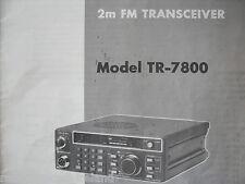 KENWOOD TR-7800 (GENUINE MANUAL ONLY)............RADIO_TRADER_IRELAND.