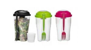 Salat-To-Go-Tazza-Insalata-Verdure-Frutta-Yogurt-Medicazione-Contenitore-Incl