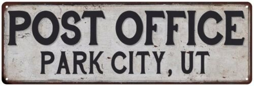 Ut Post Office Personalized Metal Sign Vintage 106180011491 Park City