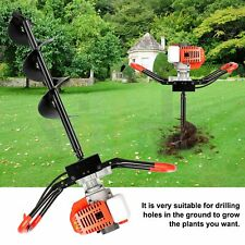 52 Cc 25 Hp Gas Powered Earth Auger Power Engine Post Hole Digger Borer Machine