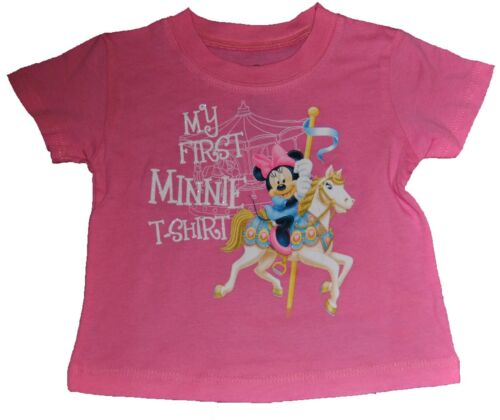 NWT GENUINE DISNEY MY FIRST MInnie Mouse INFANT T-SHIRT pink FREE SHIP /& sticker