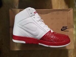 Womens Nike Air Prestige Shoes Size 7.5 Basketball Black White Red