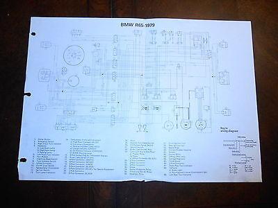 BMW OEM R65 Dealer Wiring Diagram 1979 | eBay