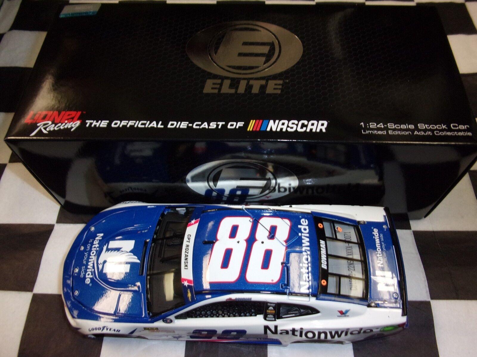 Alex Bowman  88 Nationwide Patriotic 2018 Camaro ZL1 Action 1 24 ELITE NASCAR
