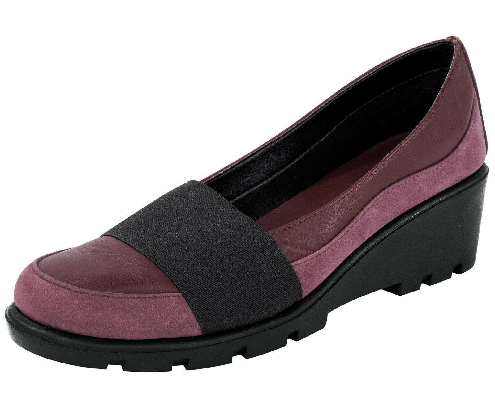 The Flexx  Ballerine 42 Chaussure A Talons Escarpins Cuir Véritable Cuir Bordeaux rouge Nouveau