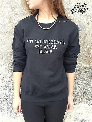 ON WEDNESDAYS WE WEAR BLACK Jumper Top Sweater Sweatshirt Mean Girls Tumblr Pink