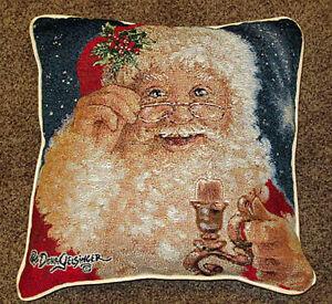 BABBO-NATALE-Buon-Natale-arazzo-CUSCINO-da-dona-CD