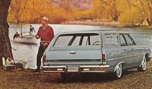 1965-CHEVELLE-Malibu-4-Door-Station-Wagon-Classic-Car-Vintage-Postcard