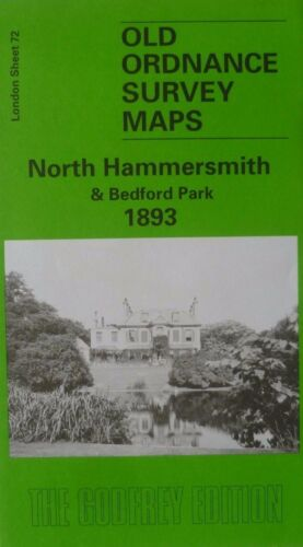 Old Ordnance Survey Maps North Hammersmith /& Bedford Park London 1893 Godfrey Ed