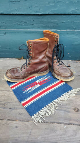 1960s Vintage Leather Lace-up Work Boots