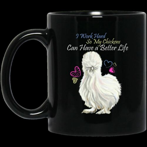 Chicken Lady Funny Mug I Work Hard So My Chickens Can Have A Better Life