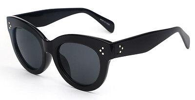 Audrey Fashion Retro Glasses Rivets Vintage Women Sunglasses Cat Eye 2018 Black