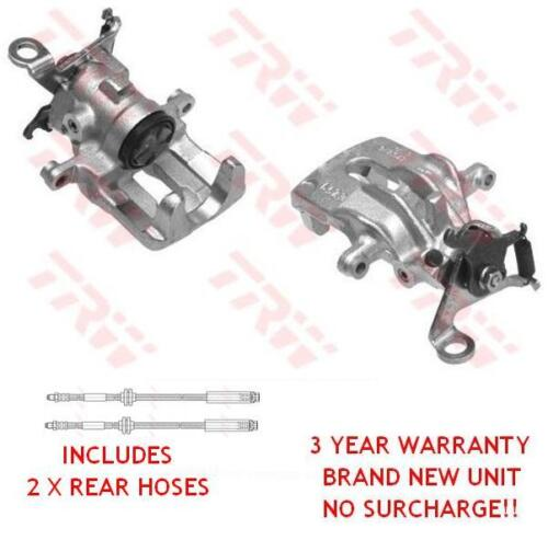 PAIR OF REAR BRAKE CALIPERS INC BRAKE HOSES FORD FOCUS 98-2004 MK1 NEW 1049