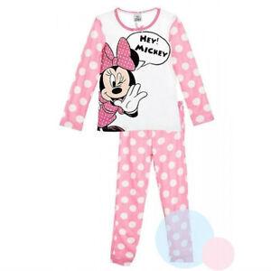 DISNEY-pyjama-2-pieces-MINNIE-Mickey-3-4-6-ou-8-ans-rose-NEUF