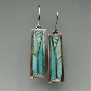 Fashion-925-Silver-Multi-Color-Gemstone-Women-Earrings-Ear-Hook-Dangle-Drop