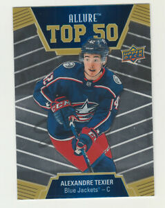 2019-20-Upper-Deck-Allure-TOP-50-T50-40-RC-Rookie-ALEXANDRE-TEXIER-Blue-Jackets