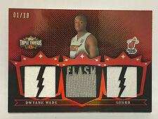 2007-08 DWYANE WADE TOPPS TRIPLE THREADS JERSEY PATCH 1/18 1/1 BEAUTIFUL CARD