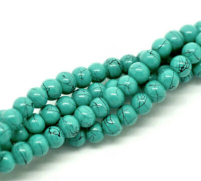 U117 Sea Glass Bead Strand Teardrop Cultured Turquoise 12 Beads 16mm x 10mm