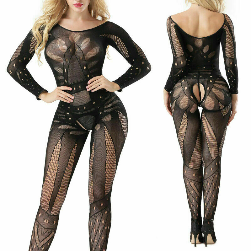 Full Body Sexy Lingerie Bodysuit body stocking Fishnet Mesh Spicy Bedroom Outfit