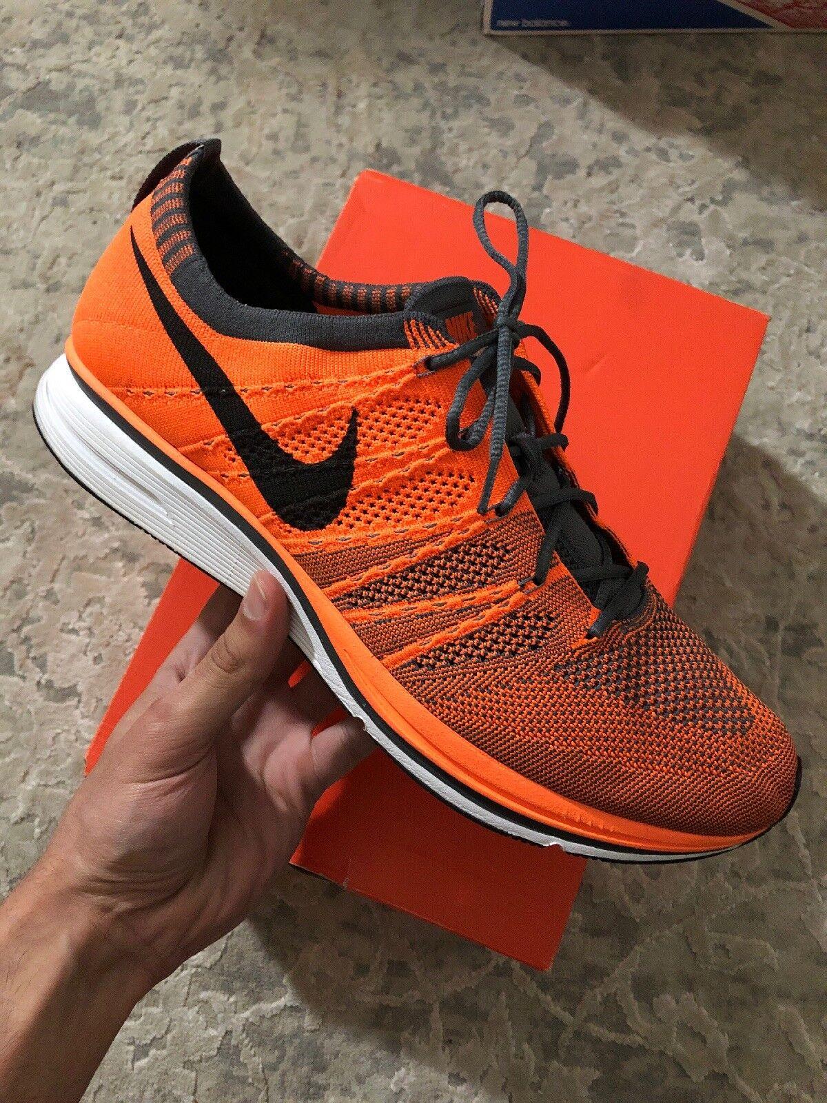 2012 Nike Flyknit Trainer+ Total orange (532984-880) Sz 12