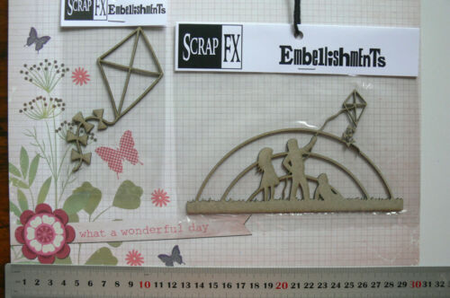 Single KITE /& Fly A KITE Landscape 2 Style Choice Scrap FX B CHIPBOARD Die Cut