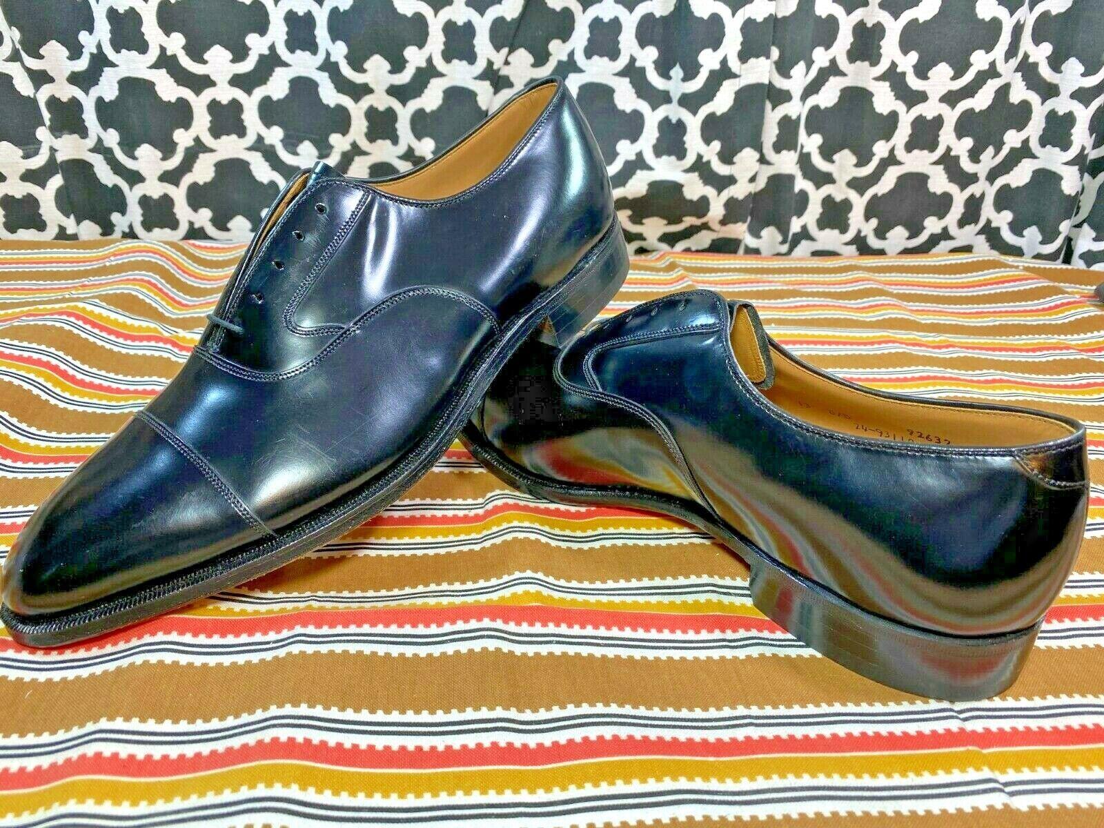 Johnston Murphy Limited Cushion System Black Captoe Dress Shoes - Sz. 13 D/B NWD