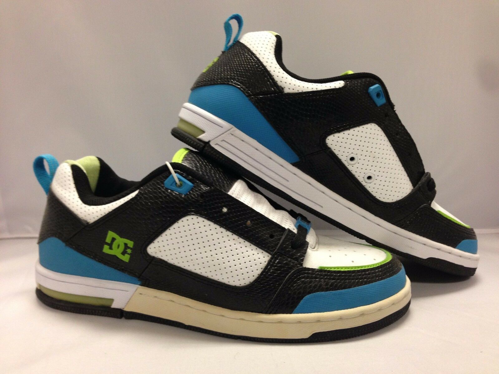 DC Men's shoes ''Premier SN''--Black White Turquoise