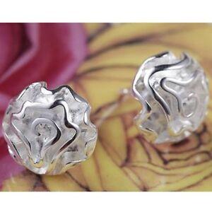 ASAMO-Damen-Ohrstecker-Rose-Ohrringe-925-Sterling-Silber-plattiert-O1003