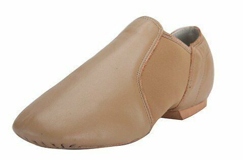 Toddler//Little Kid//Big Kid Rabicos Leather Upper Slip-On Jazz Dance Shoes for Girls and Boys