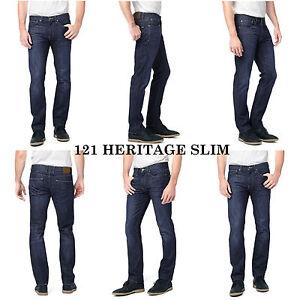 121 Brand dritta Slim Jeans da uomo Slim Gamba Fit Heritage Lucky qwR1g8xR