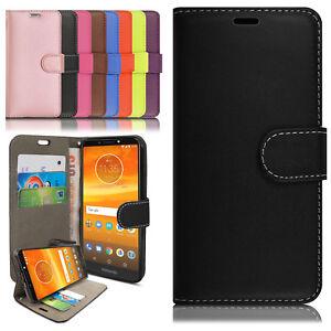 Lujo-Magnetico-Cuero-Billetera-Abatible-Estuche-Cubierta-Motorola-Moto-G5-G6-E5-jugar-Plus