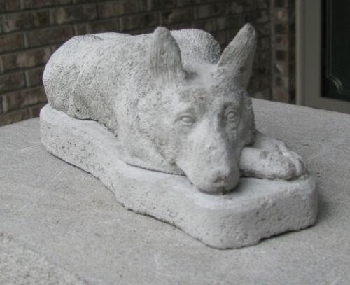 CONCRETE GERMAN SHEPHERD STATUE OR USE AS A MEMORIAL,,,,GRAVE MARKER