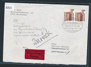 01912) Überlandpost, Tuttlingen - Stuttgart Flughafen 0720 Eilboten-Brief 1988