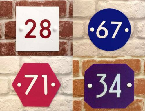 personalised HOUSE SIGN PLAQUE house number door modern hotel acrylic wall gate
