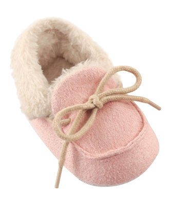 Girls Luvable Friends Pink Moccasins 6 12 18 Months Nwt