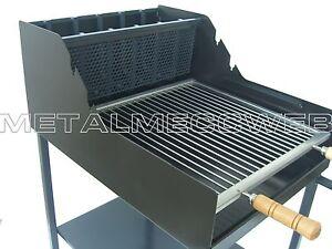 Barbecue A Legna E Carbonella Acciaio Pesante Griglia Inox