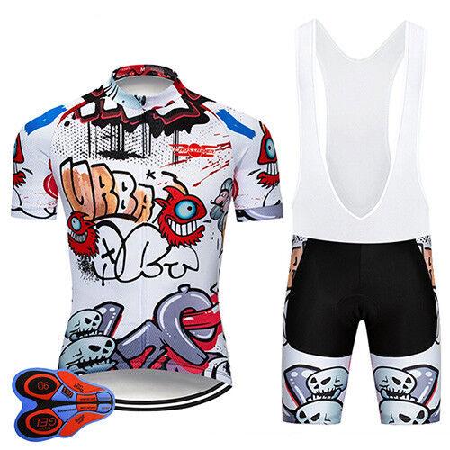 Funny Cycling Clothing Sets Retro  Road Clothing MTB Short Sleeve Racing DIY  online retailers