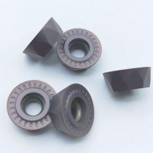 10Pcs RPMT08T2M0E-JS VP15TF CNC Carbide Inserts Blade Lathe Milling Cutter