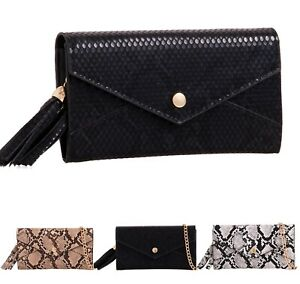 Women-Snake-Print-Purse-Wallet-Ladies-Faux-Leather-Mini-Clutch-Bag-New-UK