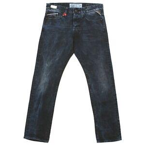 REPLAY Herren Jeans Hose WAITOM Straight Slim M 983 blackblue batic blau 19810