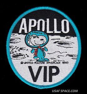 "SNOOPY - APOLLO VIP - NASA - 4"" BLUE BORDER SPACE PATCH - MINT *****"