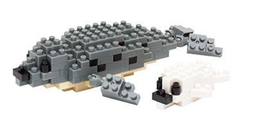 NANOBLOCK Spotted Seal Nano Block Micro-Sized Building Blocks Nanoblocks NBC-133