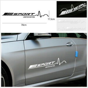 2-x-White-Sport-Limited-Edition-Auto-Car-Door-Side-Vinyl-Graphics-Decal-Stickers