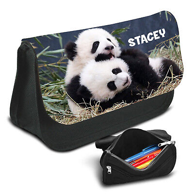 Panda Personalised Pencil Case Game School Bag Kids Stationary 19