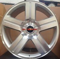 24 Chevy Texas Edition Rims Silverado Silver Wheels 26 Gmc Replica Sierra Tahoe