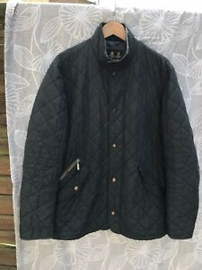Navy-Quilted-BARBOUR-COAT-JACKET-Size-Large