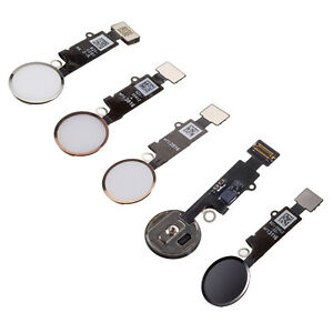 purchase cheap b9eec a7a22 Details about Black Home Button Flex Cable Touch ID Assembly Replace For  Apple iPhone 7 7 Plus